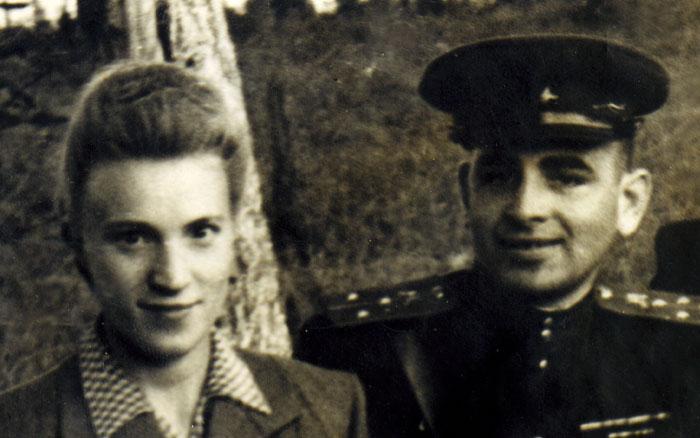 фото Обелевский Григорий Исакович с женой Музой 1951г.